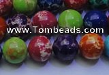 CDE2692 15.5 inches 12mm round dyed sea sediment jasper beads