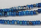 CDE273 15.5 inches 3*6mm rondelle dyed sea sediment jasper beads
