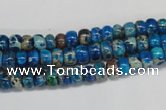 CDE274 15.5 inches 4*6mm rondelle dyed sea sediment jasper beads