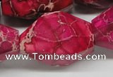 CDE28 15.5 inches 25*35mm faceted nuggets dyed sea sediment jasper beads