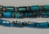 CDE288 3*6mm rondelle & 6*9mm tube dyed sea sediment jasper beads