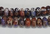 CDE371 15.5 inches 6*10mm rondelle dyed sea sediment jasper beads