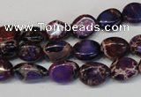 CDE389 15.5 inches 10*12mm nugget dyed sea sediment jasper beads