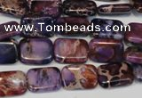 CDE435 15.5 inches 10*14mm rectangle dyed sea sediment jasper beads
