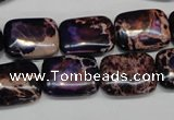 CDE436 15.5 inches 12*16mm rectangle dyed sea sediment jasper beads