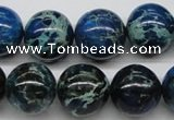 CDE47 15.5 inches 16mm round dyed sea sediment jasper beads wholesale