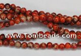 CDE490 15.5 inches 4mm round dyed sea sediment jasper beads