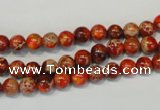CDE491 15.5 inches 6mm round dyed sea sediment jasper beads