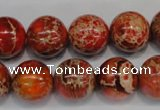 CDE495 15.5 inches 14mm round dyed sea sediment jasper beads