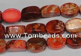 CDE528 15.5 inches 10*14mm oval dyed sea sediment jasper beads