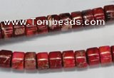 CDE596 15.5 inches 4*8mm tube dyed sea sediment jasper beads