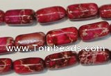 CDE598 15.5 inches 8*16mm column dyed sea sediment jasper beads