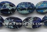 CDE61 15.5 inches 16*23mm star fruit shaped dyed sea sediment jasper beads