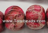 CDE610 15.5 inches 22*30mm pumpkin dyed sea sediment jasper beads
