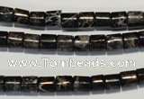 CDE670 15.5 inches 6*6mm tube dyed sea sediment jasper beads
