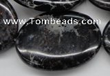CDE680 15.5 inches 30*40mm oval dyed sea sediment jasper beads