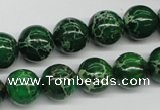 CDE70 15.5 inches 12mm round dyed sea sediment jasper beads