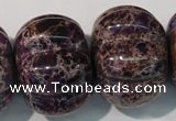 CDE702 15.5 inches 26*32mm pumpkin dyed sea sediment jasper beads
