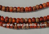 CDE731 15.5 inches 4*6mm rondelle dyed sea sediment jasper beads