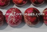 CDE764 15.5 inches 20mm round dyed sea sediment jasper beads