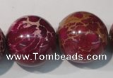 CDE765 15.5 inches 24mm round dyed sea sediment jasper beads