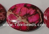 CDE784 15.5 inches 30*40mm oval dyed sea sediment jasper beads