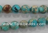 CDE803 15.5 inches 10mm round dyed sea sediment jasper beads wholesale