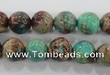 CDE805 15.5 inches 12mm round dyed sea sediment jasper beads wholesale