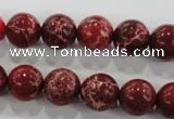 CDE823 15.5 inches 10mm round dyed sea sediment jasper beads wholesale