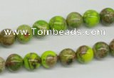 CDE83 15.5 inches 8mm round dyed sea sediment jasper beads