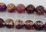 CDE833 15.5 inches 10mm round dyed sea sediment jasper beads wholesale