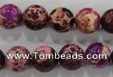 CDE834 15.5 inches 12mm round dyed sea sediment jasper beads wholesale