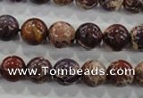 CDE843 15.5 inches 10mm round dyed sea sediment jasper beads wholesale