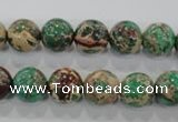 CDE853 15.5 inches 10mm round dyed sea sediment jasper beads wholesale