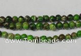 CDE920 15.5 inches 4mm round dyed sea sediment jasper beads