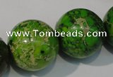 CDE925 15.5 inches 24mm round dyed sea sediment jasper beads