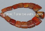 CDE990 Top drilled 18*25mm - 27*35mm trapezoid sea sediment jasper beads