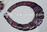 CDE991 Top drilled 18*25mm - 27*35mm trapezoid sea sediment jasper beads