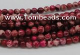CDI01 16 inches 4mm round dyed imperial jasper beads wholesale