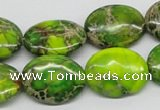 CDI100 16 inches 18*25mm oval dyed imperial jasper beads wholesale