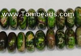 CDI136 15.5 inches 6*14mm rondelle dyed imperial jasper beads