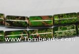 CDI141 15.5 inches 8*17mm tube dyed imperial jasper beads