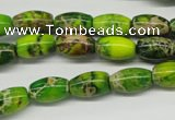 CDI145 15.5 inches 8*12mm rice dyed imperial jasper beads