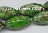 CDI148 15.5 inches 15*30mm rice dyed imperial jasper beads