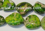 CDI154 15.5 inches 15*20mm nugget dyed imperial jasper beads