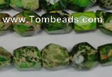CDI155 15.5 inches 10*12mm faceted nugget dyed imperial jasper beads
