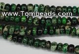 CDI160 15.5 inches 3*6mm rondelle dyed imperial jasper beads