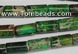 CDI167 15.5 inches 8*16mm tube dyed imperial jasper beads