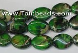 CDI180 15.5 inches 10*14mm oval dyed imperial jasper beads