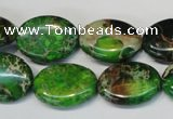 CDI183 15.5 inches 15*20mm oval dyed imperial jasper beads
